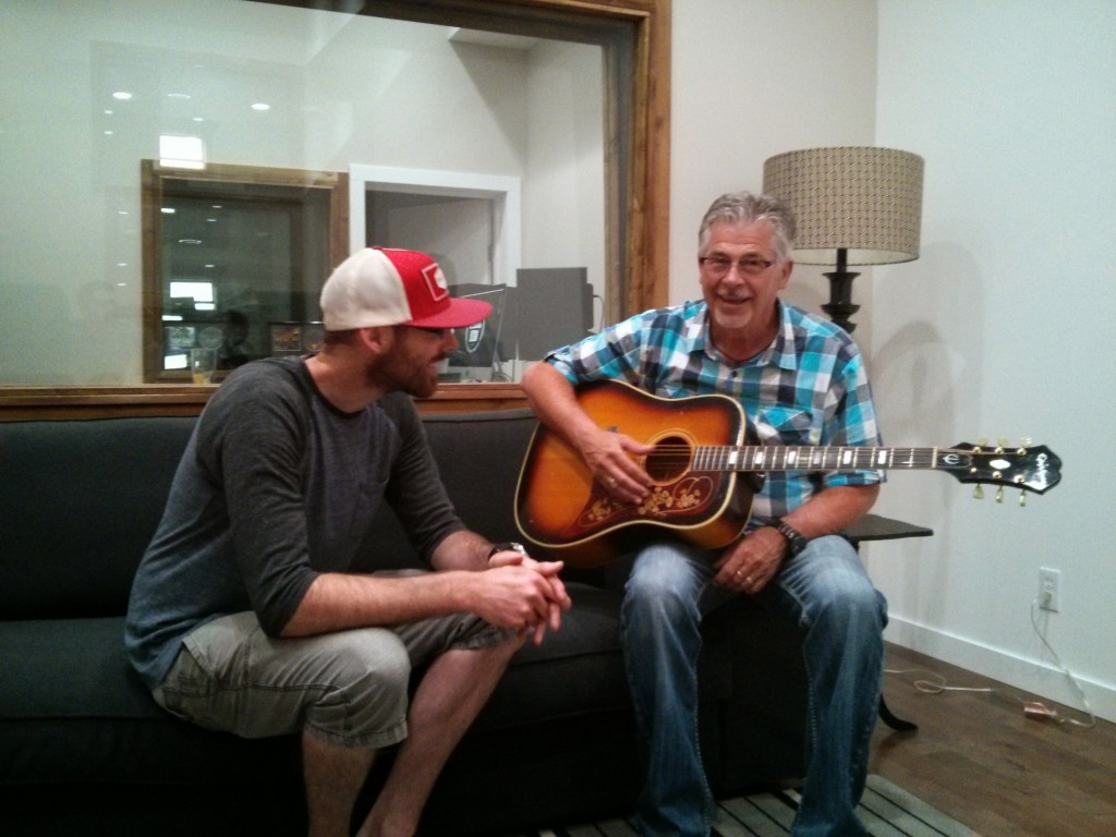 Our friend Stu popped in to jam with Heath and check out the progress in the Space.