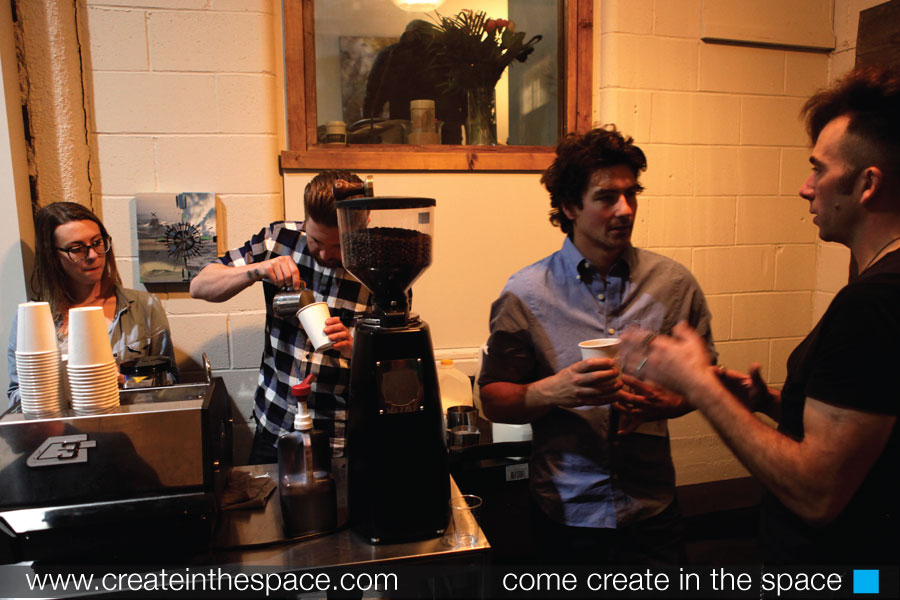 Matt Kooman and Ryan Langlois chat as Dose Coffee company serves up incredible brew.